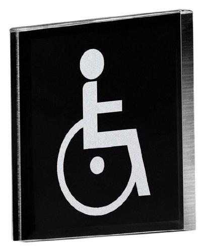 Preisvergleich Produktbild Sigel PA304 Toilettenschild / Türschild / WC-Schild Behinderten WC, 8,5 x 8,5 cm - weitere Symbole