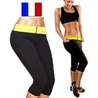 SIMPLISIM  Pantalon Legging Minceur Ceinture Sudation Cellulite maigrir  Panty Sauna Shape f27be2a02e48