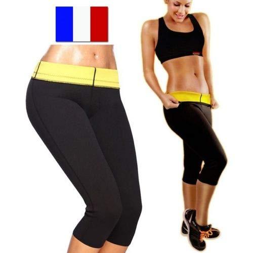 SIMPLISIM: Pantalon Legging Minceur Ceinture Sudation Cellulite maigrir Panty Sauna Shape (L)