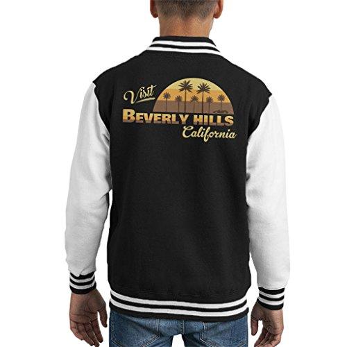 Coto7 Visit Beverly Hills California Kid's Varsity Jacket
