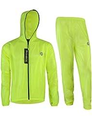 ROCKBROS Ensemble pluie veste de pluie pantalon veste de cyclisme imperméable respirant Combinaison de pluie