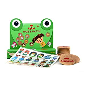 Kipod- Make and Match CREA Juego de Memoria, Multicolor (1)