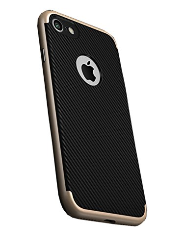 LaoZan iPhone Case Silikon Schutzhülle Back Cover Hülle Case Mit Anti-Rutsch Kratzfest Gold