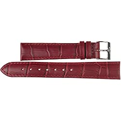 24mm Leather Band Kaiser Watches Leather Watch Strap 24MM Watch Strap Buckle: White
