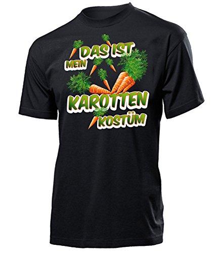 Karotten Kostüm Herren T-Shirt Motto Party Gemüse 4978 Karneval Fasching Faschings Karnevals Paar Gruppen Outfit Klamotten Oberteil Schwarz S