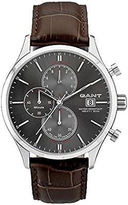 GANT W70403 - Reloj analógico de cuarzo para hombre con correa de piel, color marrón