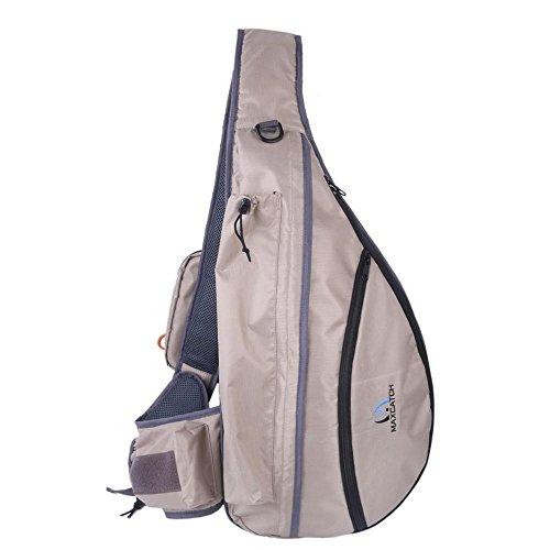 YHKQS-KQS Angeln Sling Bag Männer Einzelne Schulter Multifunktionale Fly Net Storage Taschen Angeln Fly Sling Pack -