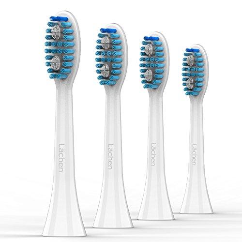 Lächen Standard Aufsteckbürsten, Ersatzbürstenkopf für Lächen elektrische Zahnbürste, S121, 4 Stück