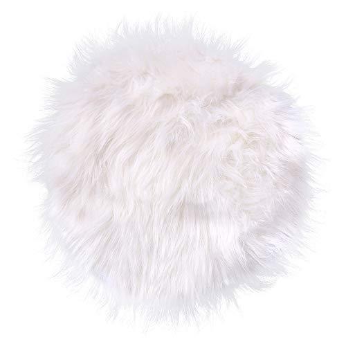 RamengSofa-Teppich aus Kunstpelz, weich, rund, Tischdecke, zur Dekoration des Hauses, 30 x 30 cm, weiß, 30*30CM -