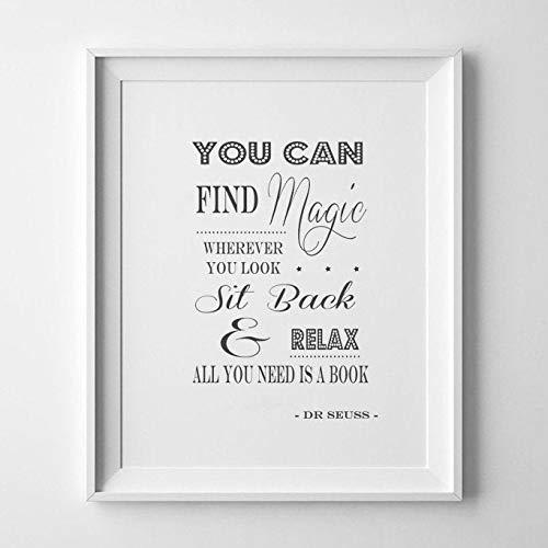 Dr Seuss Kinderzimmer Art/New Baby Geschenkidee//Kinder Geburtstag/Kindergarten Angebot/finden Sie Magic Wo/Print/Poster/Bild/DR SEUSS Zitat Art Wand/Boy 's oder Girl 's Schlafzimmer Art, A4 (Dr. Seuss Poster)
