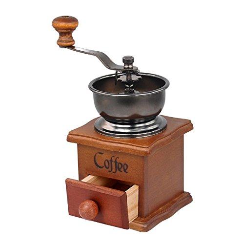 Kitchnexus Manuelle Kaffeemühle Handkurbel Kaffeemaschine Edelstahl Stärke Verstellbar Espresso Getreide Gewürze Kräuter Nüsse - 200 Grad Kaffeemaschine