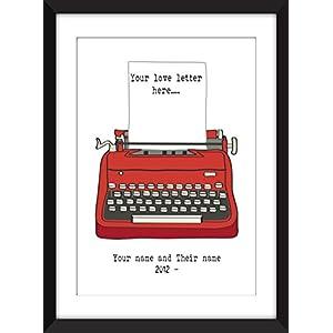 Personifizierter Liebesbrief /Personalised Love Letter - Ungerahmter Druck