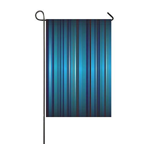 JOCHUAN Wohnkultur Helle Blaue Streifen Abstrakte Band Garten Flaghouse Yard Flaggarden Yard Decorationsseasonal Willkommen Outdoor Flagge 12X18 Zoll - Kobalt-blauer Streifen