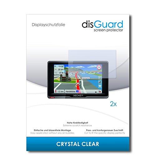 disGuard® Displayschutzfolie [Crystal Clear] kompatibel mit Becker Ready.5 EU [2 Stück] Kristallklar, Transparent, Unsichtbar, Extrem Kratzfest, Anti-Fingerabdruck - Panzerglas Folie, Schutzfolie