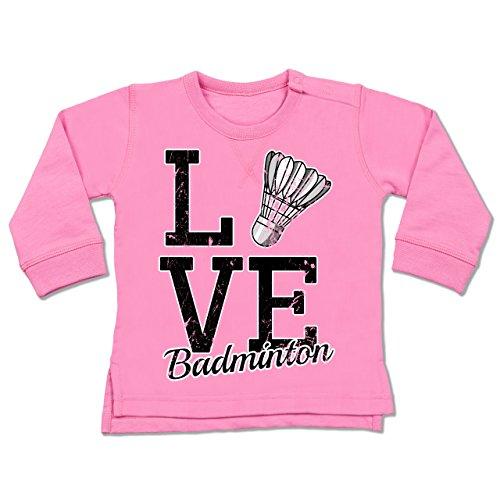 Sport Baby - Love Badminton - 6-12 Monate - Pink - BZ31 - Baby Pullover