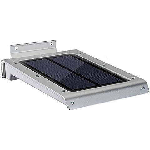 Lampara Solar con Detector de Movimiento Yokkao® 46 LEDs Ultra-Thin a Prueba de Agua para Exteriores/ Jardin / Escalera