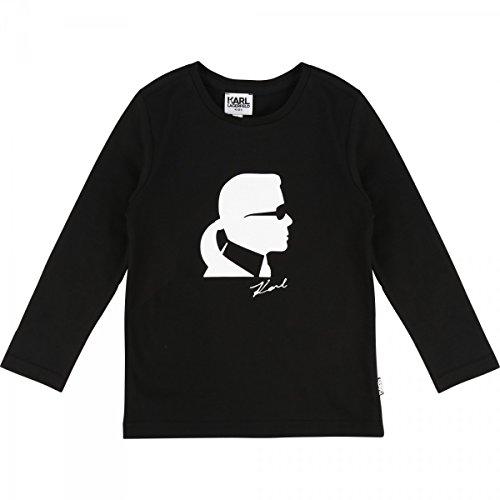Karl Lagerfeld - T-Shirt Mini Me Manches Longues Noir - 6 Ans, Noir