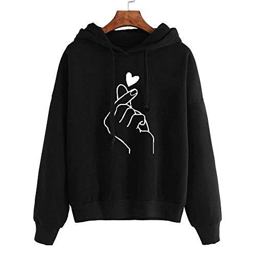 Boutique sale Herbst Und Winter Frauen Shirt Print Love Loose Hooded Sweater Pullover Frauen Loose Hooded Sweater