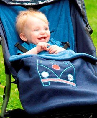 Super Campervan Embroidery Blue Buggysnuggle