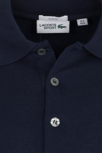 Lacoste YH4801 Herren Poloshirt in Slim Fit, Polohemd, Polo, Kurzarm Aus 100% Baumwolle Blau (Navy Blue 166)