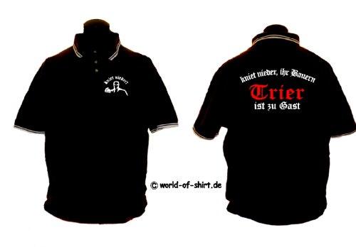 world-of-shirt Herren Polo Shirt Trier Ultras kniet nieder