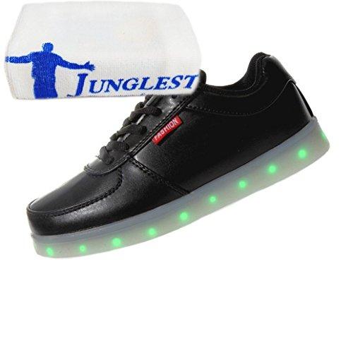Sportschuhe present 7 Unisex Schuhe erwachsene Led Turnschuhe Top kleines junglest® Aufladen Farbe Sport Leuchtend Lackleder Schwarz Handtuch Sneaker High Für Usb wt6tqrUx