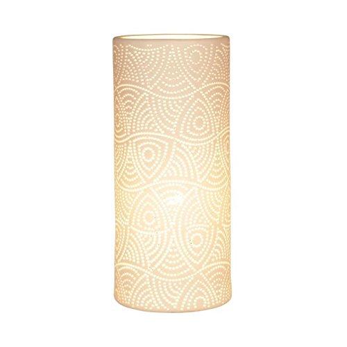 Sema 97511 Lampe Cylindrique Mandala PM, Céramique, Blanc
