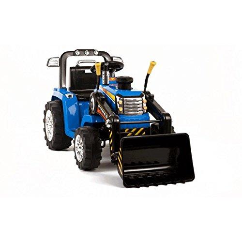 Tracteur Pelleteuse 12 Volts Bleu - Tracteur électrique enfants
