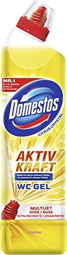 Citrus-gel-reiniger (Domestos WC Gel Aktiv Kraft Reiniger Citrus, 3er Pack (3 x 750 ml))