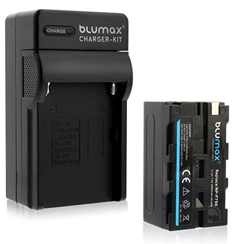 Blumax Akku für Sony NP-F750/F970/F960/F550-4000mAh + Ladegerät inkl. KFZ Ladekabel -