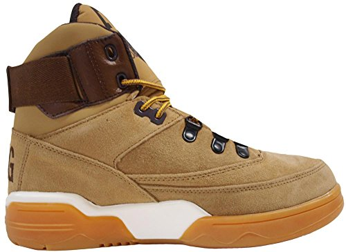 Patrick Ewing Mens 33 Hi Winter Leather Trainers Sable