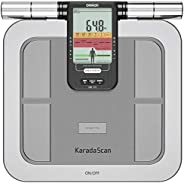 Omron HBF 375 Karada Scan Complete Digital Body Composition Monitor with 3 Months Memory to Monitor BMI, Segme