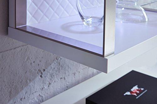 Design Mediencenter, Soft Close-Dämpfung, Wohngalerie Korpus Weiß Mattlack / Front Cappuccino Hochglanz - 4