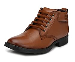 Mactree Mens Genuine Leather Boots 2805 (10 UK, Tan)