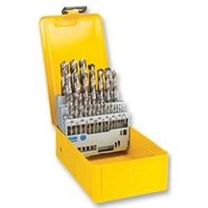 41fmi i0YpL. SS300  - Dewalt DT5929-QZ DT5929-QZ-Juego de 29 Piezas para Metal HSS-G DIN 338 en Cassette metálica Ø 1-13mm, 0 W, 0 V, Negro Y Amarillo