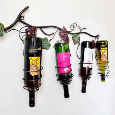 GS~LY European wine rack. antico quattro bottiglie accatastate accessori vino
