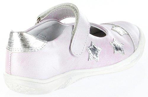 Richter Kinder Ballerinas Metallicleder pink Klett Mädchen-Schuhe 3610-732-3502 Vela Pink