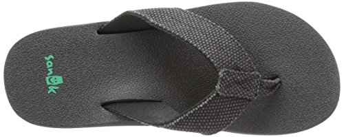 Sanuk Mens M Beer Cozy Ultra TX Flip Flop Black Weave
