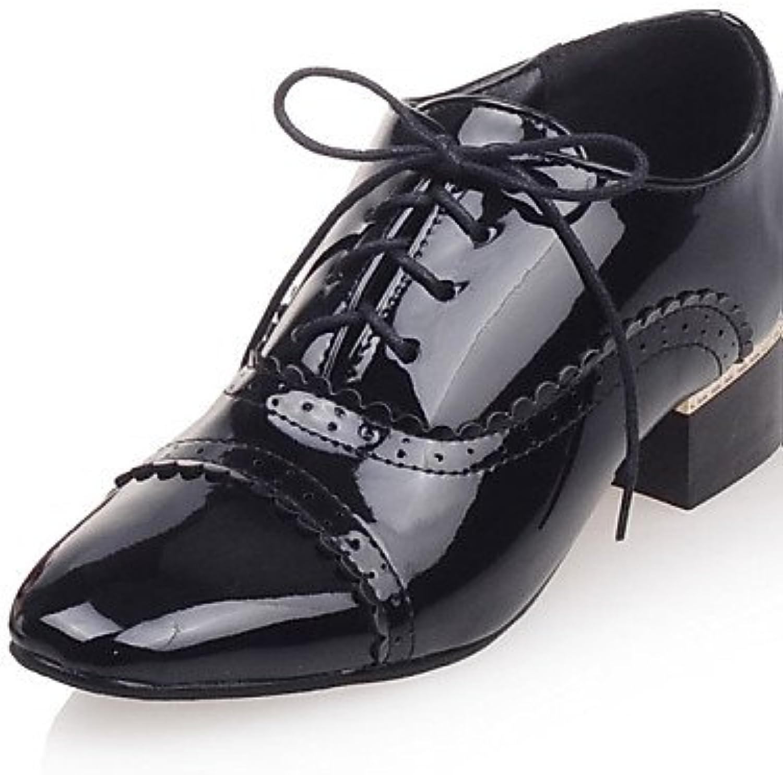 ZQ 2016 Zapatos de mujer - Tacón Robusto - Punta Cerrada - Oxfords - Exterior / Vestido / Casual - Cuero Patentado...