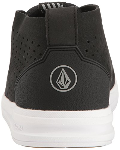 Black Volcom Mid Shoe Draft Black wvPnR7Oxq