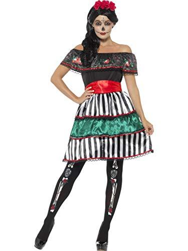 costumebakery - Damen Frauen Kostüm Schulterfreies Senorita Kleid -
