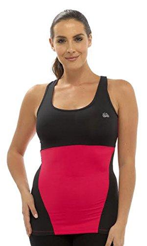 Damen Tom Franks Zwei Ton Sport Yoga Gym Fitness Top Mode Weste Sportswear Rosa