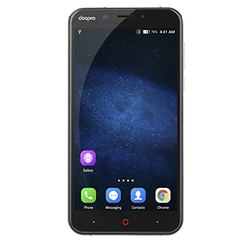 Doopro P2 Pro 4G Smartphone (Écran: 5.5'' HD - Android 6.0 (Marshmallow) MSM8909 - Quad Core - 2Go RAM - 16Go ROM - Dual SIM Dual Caméra - Batterie 5200mAh) - Gris