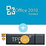 MS Office 2010 Standard 32 Bits y 64 Bits - Clave de Licencia Original con una Memoria USB de - TPFNet