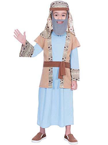 Für Joseph Kostüm Krippe - Amscan Jungen Schäferhund Joseph Inn Keeper Kostüm Weihnachten Krippenspiel Kostüm Kinder
