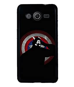 printtech Superhero Avengers Shield Back Case Cover for Samsung Galaxy Core i8262::Samsung Galaxy Core i8260