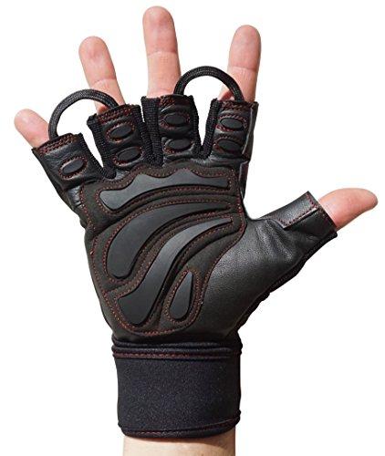 MACCIAVELLI – Fitness Handschuhe mit MAX WEIGHT Dämpfung für mehr Leistung bei Kraftsport, Gewichtheben und Calisthenics – PLUS...