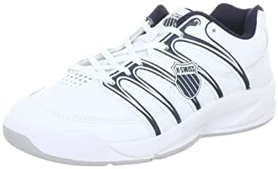 K-Swiss OPTIM CARPET IV 82781-109-M, Unisex-Kinder Tennisschuhe, Weiß (White/Navy), EU 37 (UK 4)