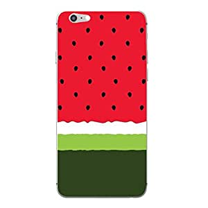 Hamee Designer Cover Thin Fit Plastic Hard Back Case for iPhone 7 (watermelon)