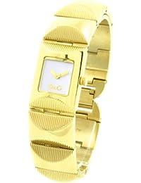D&G Dolce&Gabbana Damen-Armbanduhr TWEED IPG SLV DIAL BRC DW0323